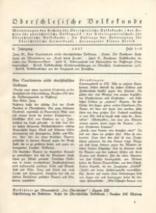 Oberschlesische Volkskunde, 1937, Jg. 8, H. 1/3
