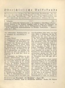 Oberschlesische Volkskunde, 1937, Jg. 8, H. 12