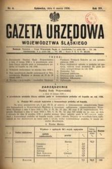 Gazeta Urzędowa Województwa Śląskiego, 1936, R. 15, nr 6