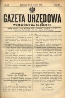 Gazeta Urzędowa Województwa Śląskiego, 1936, R. 15, nr 10