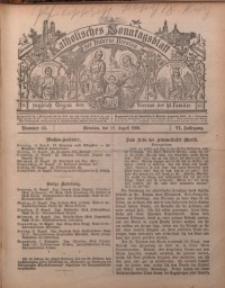 Katholisches Sonntagsblatt der Diöcese Breslau, 1900, Jg. 6, nr 33