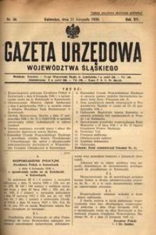 Gazeta Urzędowa Województwa Śląskiego, 1936, R. 15, nr 36