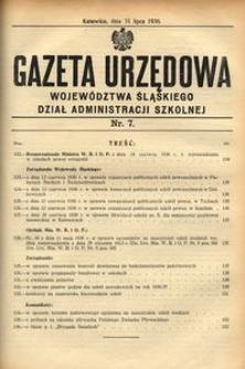 Dział Administracji Szkolnej, 1936, R. [13], nr 7