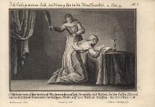 S. Hedwig zwingt ihre vertraute Matronen benantlich... Św. Jadwiga poddaje się biczowaniu