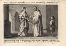 S. Hedwig empfängt Schuhe von Herrn Bünthern Abbten zu Leubus von welchem... Św. Jadwiga przyjmuje buty od opata lubiąskiego Guntera
