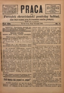 Praca, 1903, R. 13, Nr. 4