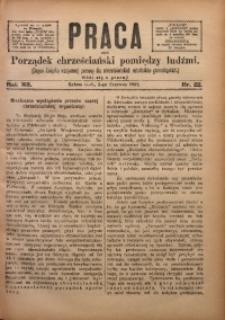 Praca, 1902, R. 12, Nr. 22