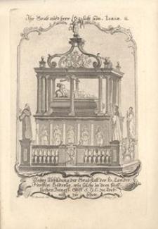 Wahre Abbildung der Grabstatt der H. Landes Fürstin Hedwig... Nagrobek św. Jadwigi w bazylice w Trzebnicy