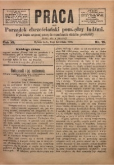 Praca, 1901, R. 11, Nr. 15