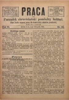 Praca, 1901, R. 11, Nr. 45