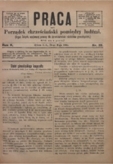 Praca, 1900, R. 10, Nr. 22