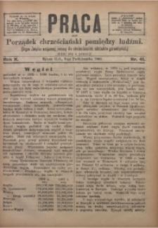 Praca, 1900, R. 10, Nr. 41