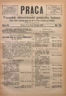 Praca, 1899, R. 9, Nr. 33