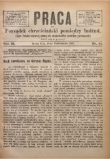 Praca, 1899, R. 9, Nr. 41