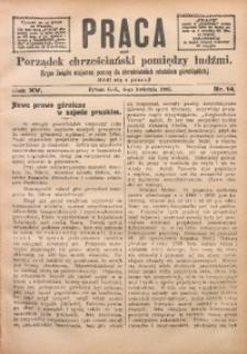 Praca, 1905, R. 15, Nr. 14
