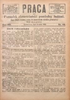 Praca, 1905, R. 15, Nr. 49