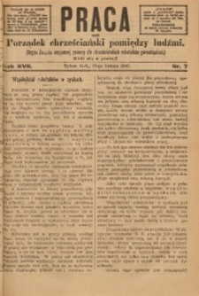 Praca, 1907, R. 17, Nr. 7