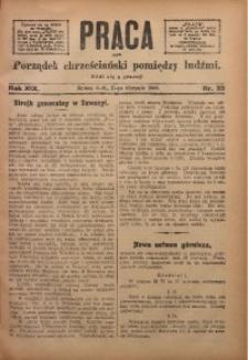 Praca, 1909, R. 19, Nr. 33