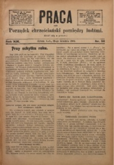 Praca, 1909, R. 19, Nr. 52
