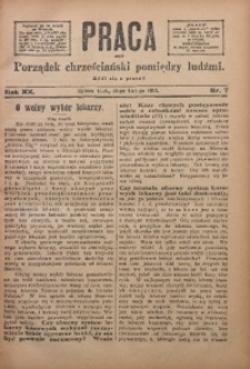 Praca, 1910, R. 20, Nr. 7