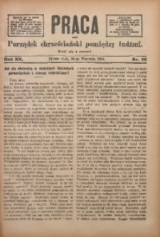 Praca, 1910, R. 20, Nr. 38