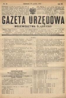 Gazeta Urzędowa Województwa Śląskiego, 1933, R. 12, nr 42