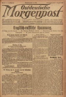Ostdeutsche Morgenpost, 1920, Jg. 2, Nr. 216