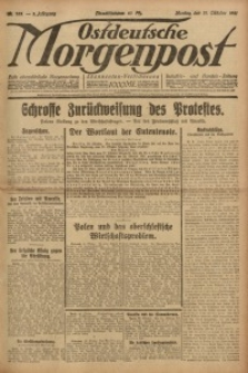 Ostdeutsche Morgenpost, 1921, Jg. 3, Nr. 283