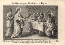 S. Hedwig speiszt in der Person Christi... Św. Jadwiga gości pielgrzymów