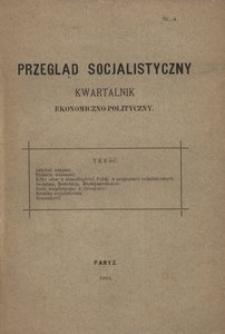 Przegląd Socjalistyczny, 1893, nr 4