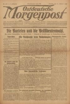 Ostdeutsche Morgenpost, 1922, Jg. 4, Nr. 287