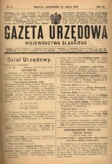 Gazeta Urzędowa Województwa Śląskiego, 1930, R. 9, nr 9