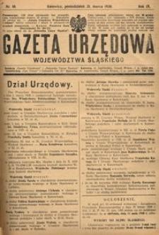 Gazeta Urzędowa Województwa Śląskiego, 1930, R. 9, nr 10