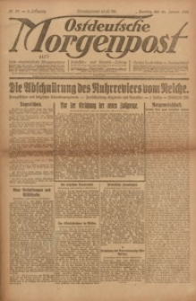 Ostdeutsche Morgenpost, 1923, Jg. 5, Nr. 27