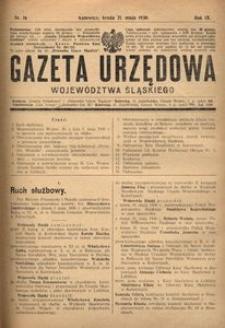Gazeta Urzędowa Województwa Śląskiego, 1930, R. 9, nr 16