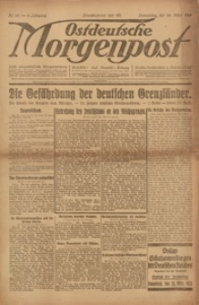 Ostdeutsche Morgenpost, 1923, Jg. 5, Nr. 80