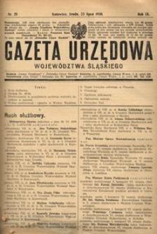 Gazeta Urzędowa Województwa Śląskiego, 1930, R. 9, nr 25