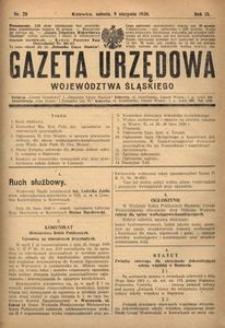 Gazeta Urzędowa Województwa Śląskiego, 1930, R. 9, nr 28