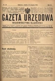 Gazeta Urzędowa Województwa Śląskiego, 1930, R. 9, nr 30