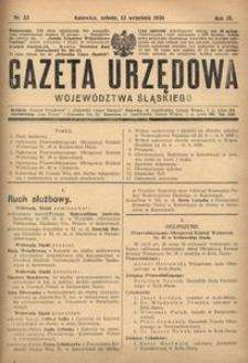 Gazeta Urzędowa Województwa Śląskiego, 1930, R. 9, nr 33