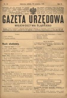 Gazeta Urzędowa Województwa Śląskiego, 1930, R. 9, nr 34