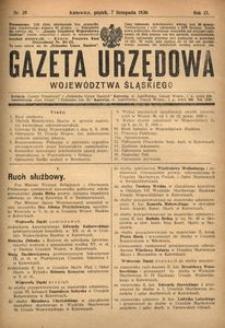 Gazeta Urzędowa Województwa Śląskiego, 1930, R. 9, nr 39