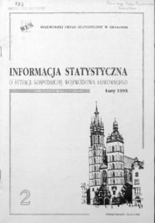 Informacja statystyczna o sytuacji gospodarczej województwa krakowskiego za luty 1995