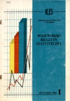 Wojewódzki Biuletyn Statystyczny, 1996, nr 1