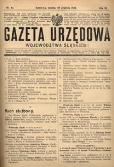 Gazeta Urzędowa Województwa Śląskiego, 1930, R. 9, nr 44