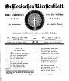 Schlesisches Kirchenblatt, 1835, Jg. 1, nr 3