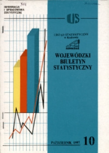 Wojewódzki Biuletyn Statystyczny, 1997, nr 10