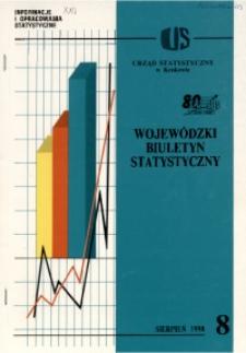 Wojewódzki Biuletyn Statystyczny, 1998, nr 8