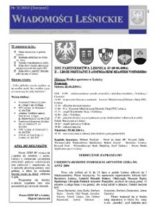 Wiadomości Leśnickie : biuletyn informacyjny Urzędu Miejskiego w Leśnicy 2004, nr 3.