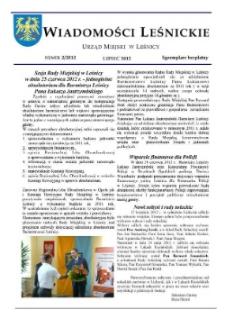 Wiadomości Leśnickie 2012, nr 2.
